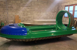 5 person two engine hovercraft, ultimate personal and rescue hovercraft for sale