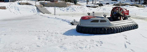Hovercraft on ice, Twin engine hovercraft