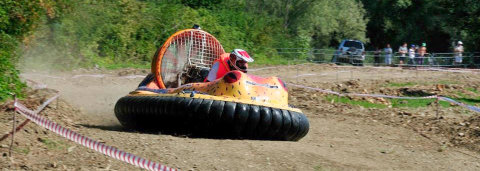 One and only - BUFOcraft hovercraft in action